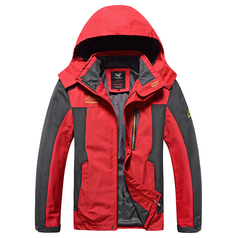 Spring Autumn Mens Outdoor Hiking Jackets Climbing Hiking Camping Male Hooded Sport Coats Windproof Waterproof Hiking JacketSpring Autumn Mens Outdoor Hiking Jackets Climbing Hiking Camping Male Hooded Sport Coats Windproof Waterproof Hiking Jacket