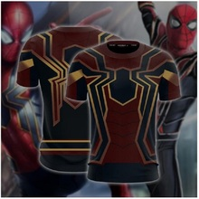Spider-man: Homecoming Iron Spider Cosplay Unisex 3D T-shirt Compression Shirts Character Comics Tops For Male Costume