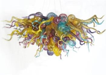 Candelabro de vidrio soplado a mano con iluminación de cristal de arte colorido candelabro de cristal de 28