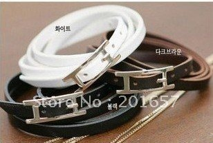 DN-251 new arrival+freeshipping leather belt barcelet/gem necklace accessory /hair accessory/color assorted