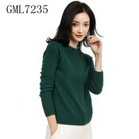 Ladies Winter Thicken Warm Cashmere Wool Knitted Sweater Free Shipping GML7235