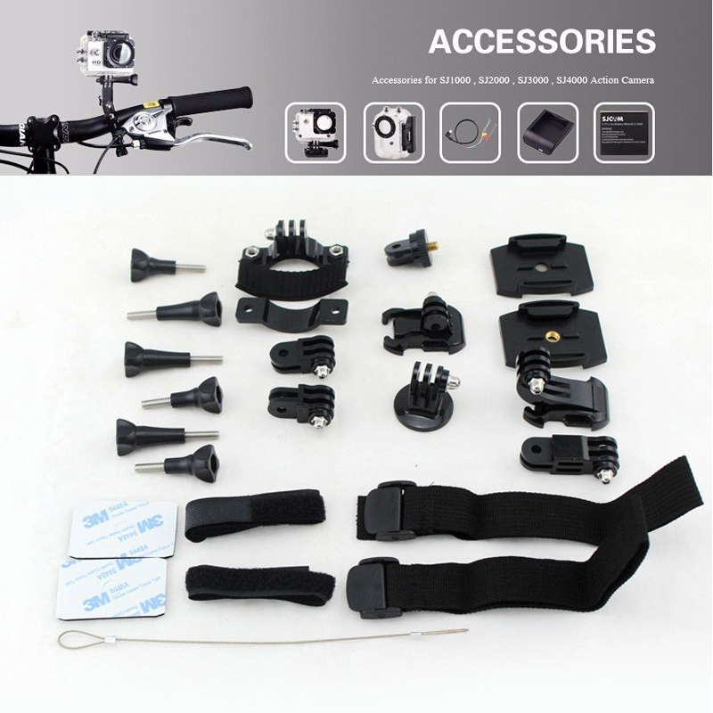 for SJCAM SJ4000 Accessories 20 in 1 Cycling Suits For SJ CAM SJ 4000 SJ5000 wIFI SJ5000 Plus SJ6000 SJ7000 M10 Action Camera