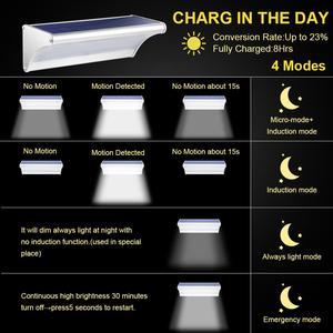 Image 3 - Lampada solare a LED per esterni a luce solare con sensore di movimento alluminio 24/48/60LED illuminazione da parete per giardino a luce solare impermeabile