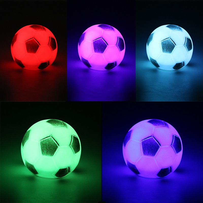 Night Table Lamp Color Changing LED Football Night Lights Bedroom Decoration for Kid Baby Gift Bedside Atmosphere Lamp