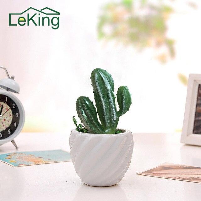 Realistico Artificiale Mini Tre Testa Cactus Piante di Plastica Del Mestiere Flo