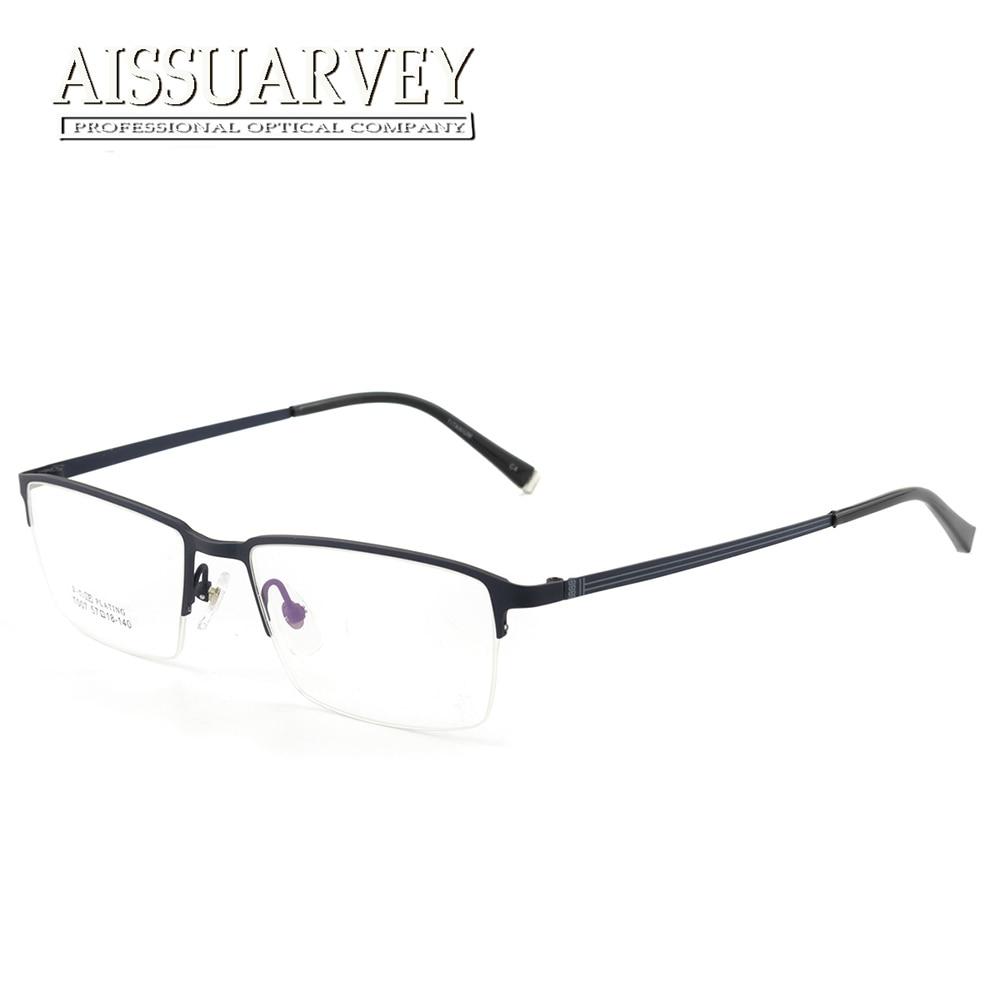 Gafas de titanio marcos de anteojos ópticos hombres clásico simple ...