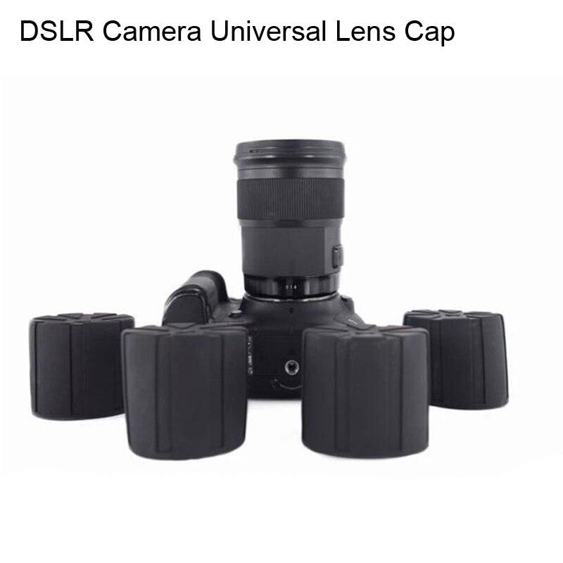 Universal Lens Cap para lentes de la Cámara lente impermeable cubierta de protección de la cámara para Canon Nikon Sony Olypums Fuji Lumix