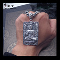 Thai silver necklace monkey natal Buddha Vairocana man 925 sterling silver jewelry pendant foguangpuzhao male