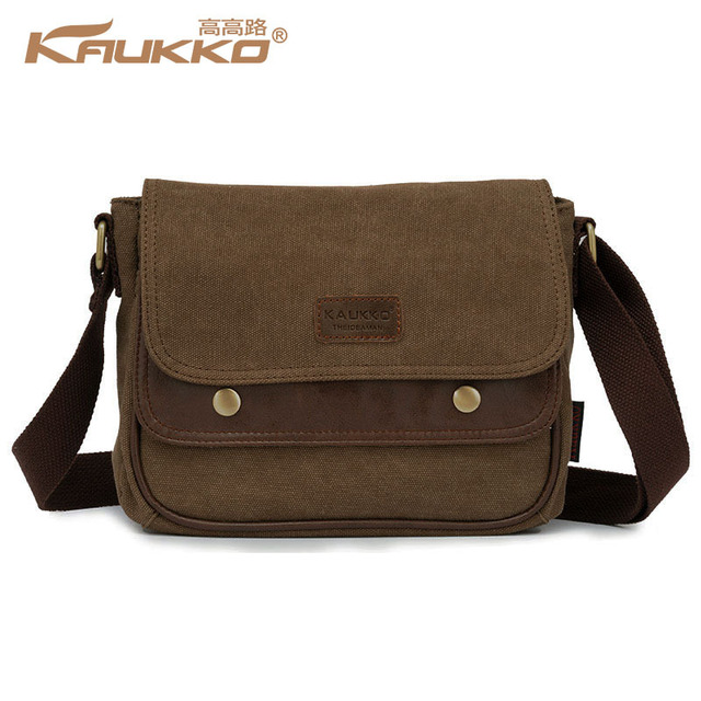320a2cf29d Kaukko Canvas Bag Women s Men s Messenger Bag School Bag Crossbody shoulder  Bag Vintage Casual Style