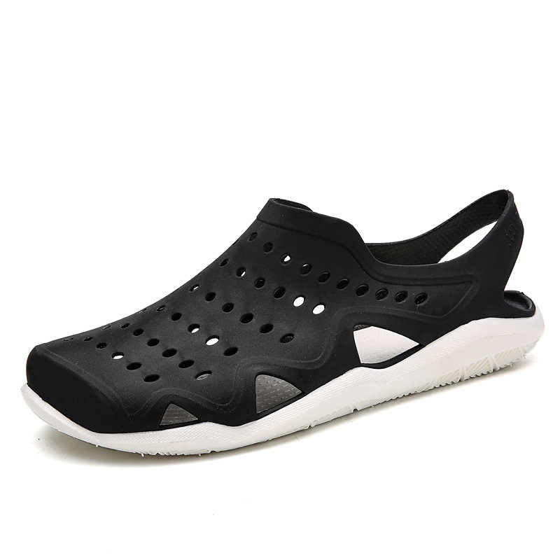 937775d58b31 ... Hot Summer Slippers Fashion Water Hole Shoes Men Breathable Anti-skid  Beach Shoes Leisure Hollow ...
