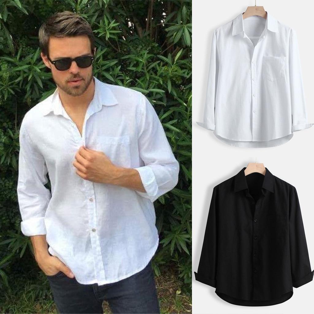 Alluing Men Shirt Fashion Striped Color Male Casual Short Sleeve Shirt