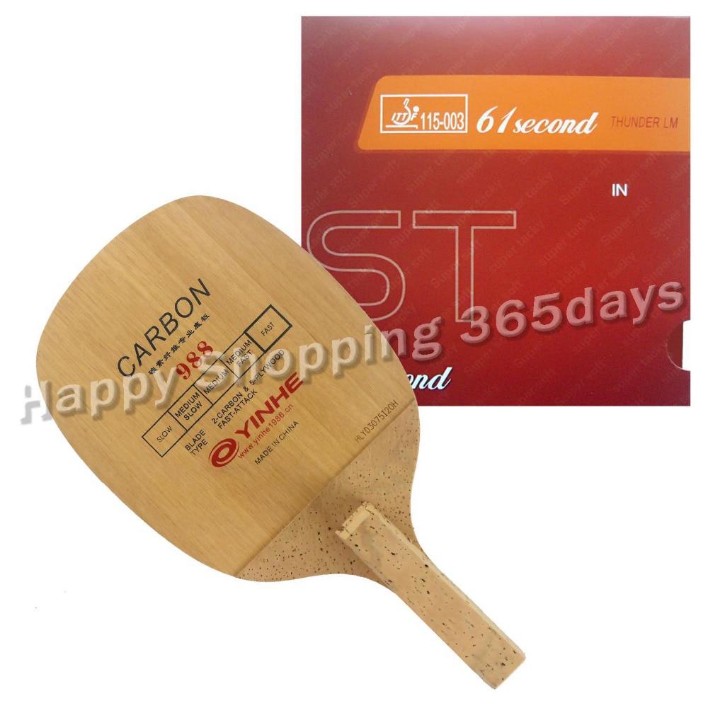 Pro Tennis De Table PingPong Combo Raquette Galaxy 988 Lame avec 61 secondes LM ST En Caoutchouc Japonais Penhold JS