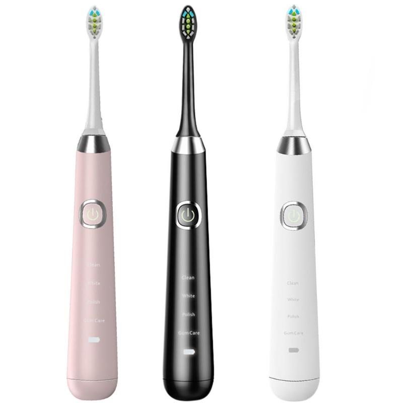 Electric Toothbrush Whitening Smart 4 Modes Wireless Charging IPX7 Waterproof Automatic Soft Toothbrush for Adult цена и фото