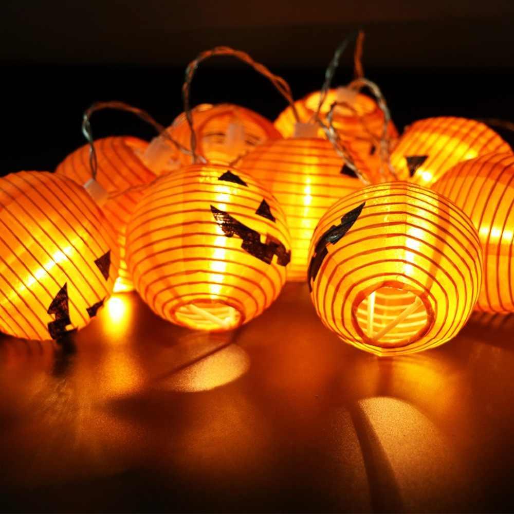 OurWarm украшения для Хеллоуина, тыква свет висящий призрак камин мантия шарф занавес бутафория для Хэллоуина аксессуары для празднования Хеллоуина