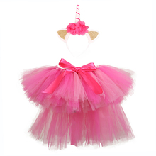 Pink Girls Tutu Skirt Fluffy Unicorn for Girl Knee Length Birthday Party Ballet Dance Pettiskirt Toddler Skirts