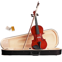 Violin 4/4 Full Size Natural Acoustic Fiddle Wood with Outfit for Students Beginners Musical Instruments