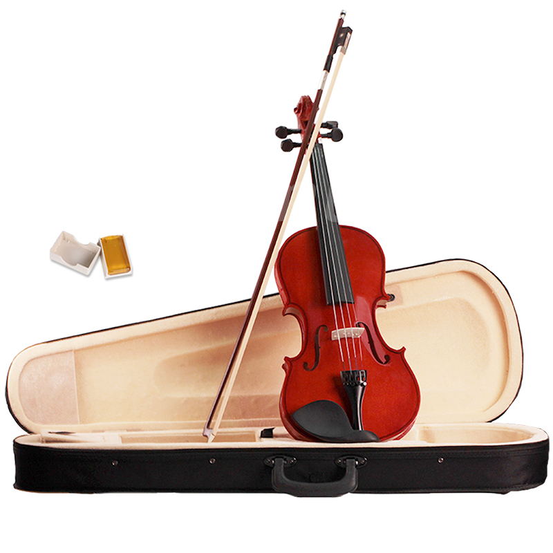 Violin 4/4 Full Size Natural Acoustic Fiddle Wood with Outfit for Students Beginners Musical Instruments one 4 string 4 4 violin electric violin acoustic violin maple wood spruce wood big jack green color