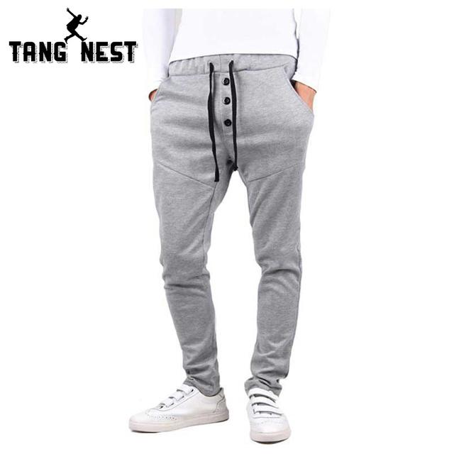 Tangnest 2017 top venda hop top venda harem pants casuais 3 cores elástico na cintura calças novo projeto mky166