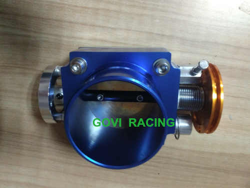 blue throttle body with aluminum 65mm/70mm/ 90mm universal for car air  inntake pipe air filter boost controller 0258007057