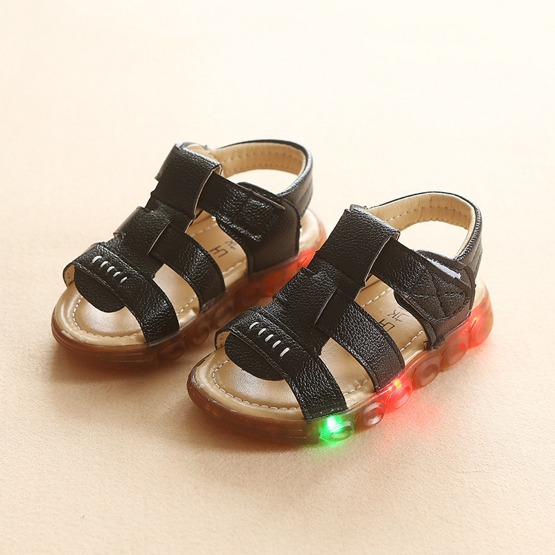 2018 new fashion soft baby shoes summer casual sandals cool baby new leather childrens shoes