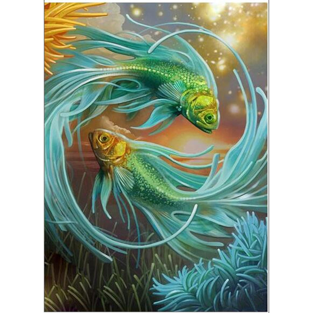 Fish Big Splash Diy 5d Diamond Painting Cross Stitch Kits