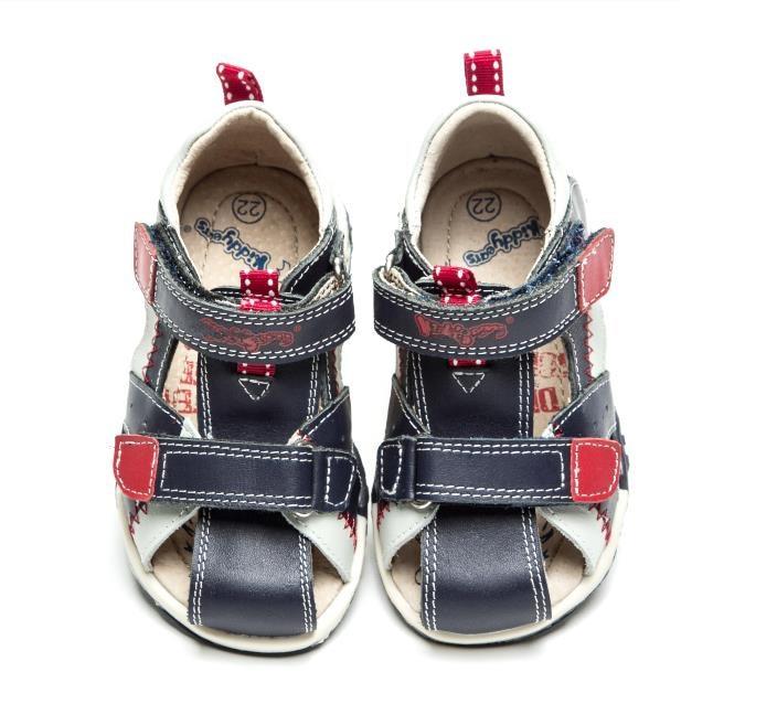 Fashion 1pair Orthopedic shoes boy Genuine Leather Children Sandals+inner 13.2-17.3cm,Super Quality Kids Summer Shoes new 1 pair flower genuine leather sandals orthopedic sandals children shoes inner 13 3 20 6cm super quality kid girl sandals