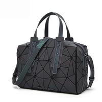 New Fashion Messenger Bags Women Luminous Bao Bag Tote Sequins Geometric Shoulder Bags Plain Folding Handbags Clutch bolso 2019