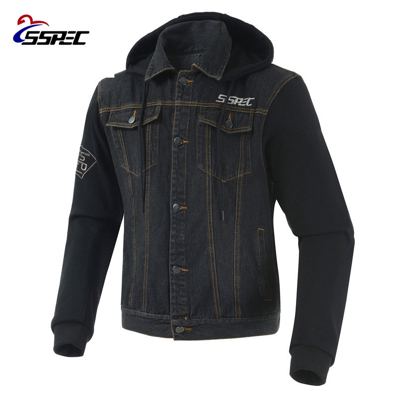 Motorcycle Jacket 2018 Spring Summer Men Denim Jacket Windproof Moto Motorbike Jean Jackets Chaquetas Outerwear With Protectors-in Jackets from Automobiles & Motorcycles    2