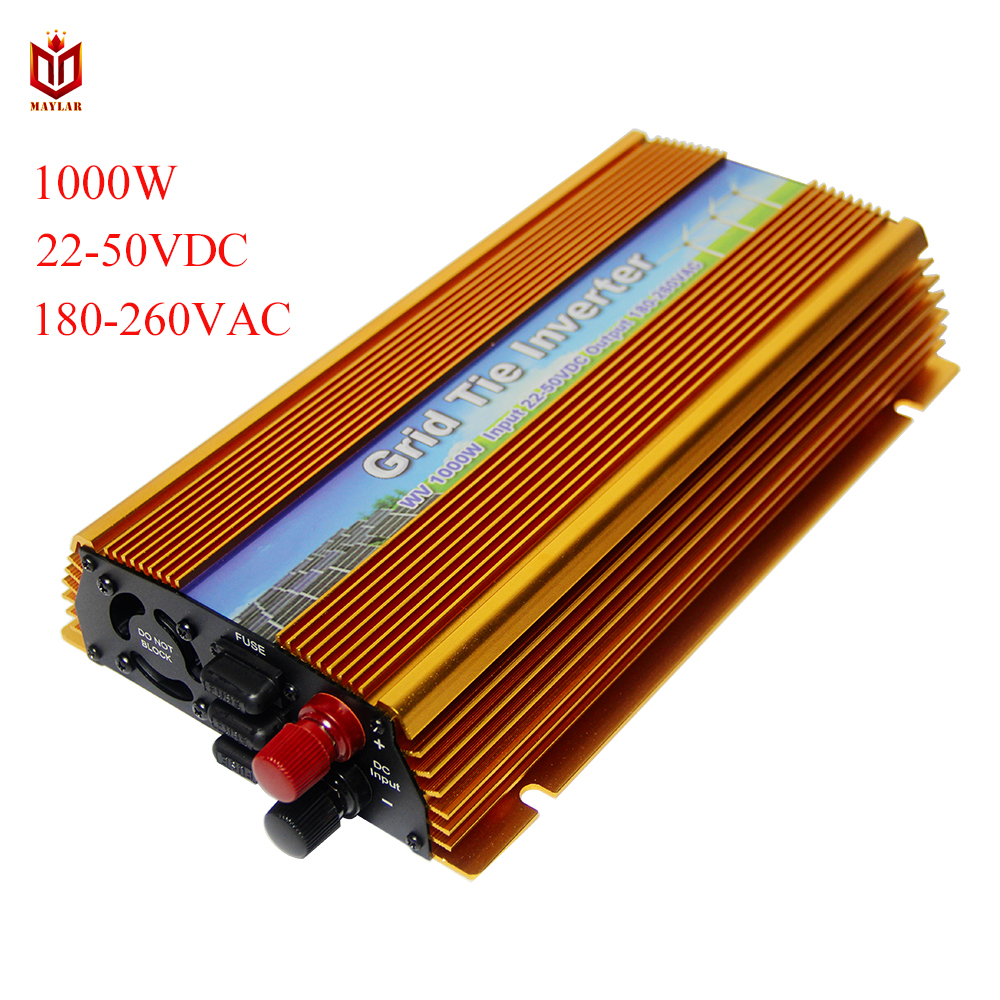 MAYLAR 22 50VDC 1000W Solar Grid Tie Inverter with MPPT PV on Grid Inverter Output 180