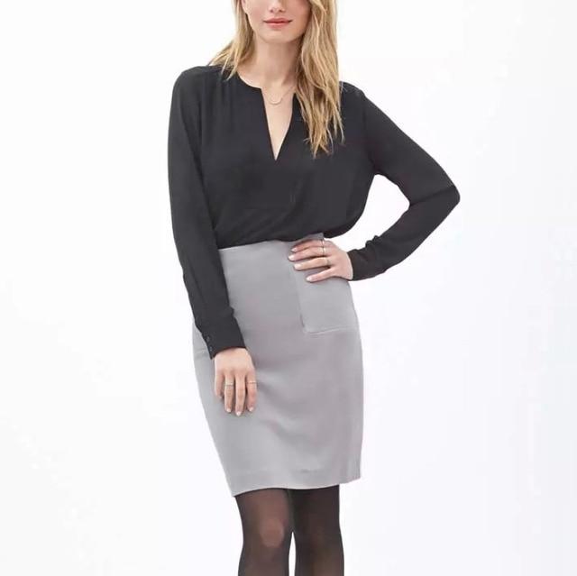 2016 primavera mulheres Chiffon blusa de alta qualidade cor sólida manga longa blusa escritório OL camisa Tops GA8041