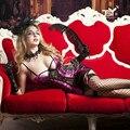 9781 2017 Mulheres Sexy Trajes de Lingerie Sexy Conjuntos de Roupa Interior Lingerie Erótica Pornô Babydoll Chemise Femme Define com Caixa de Presente