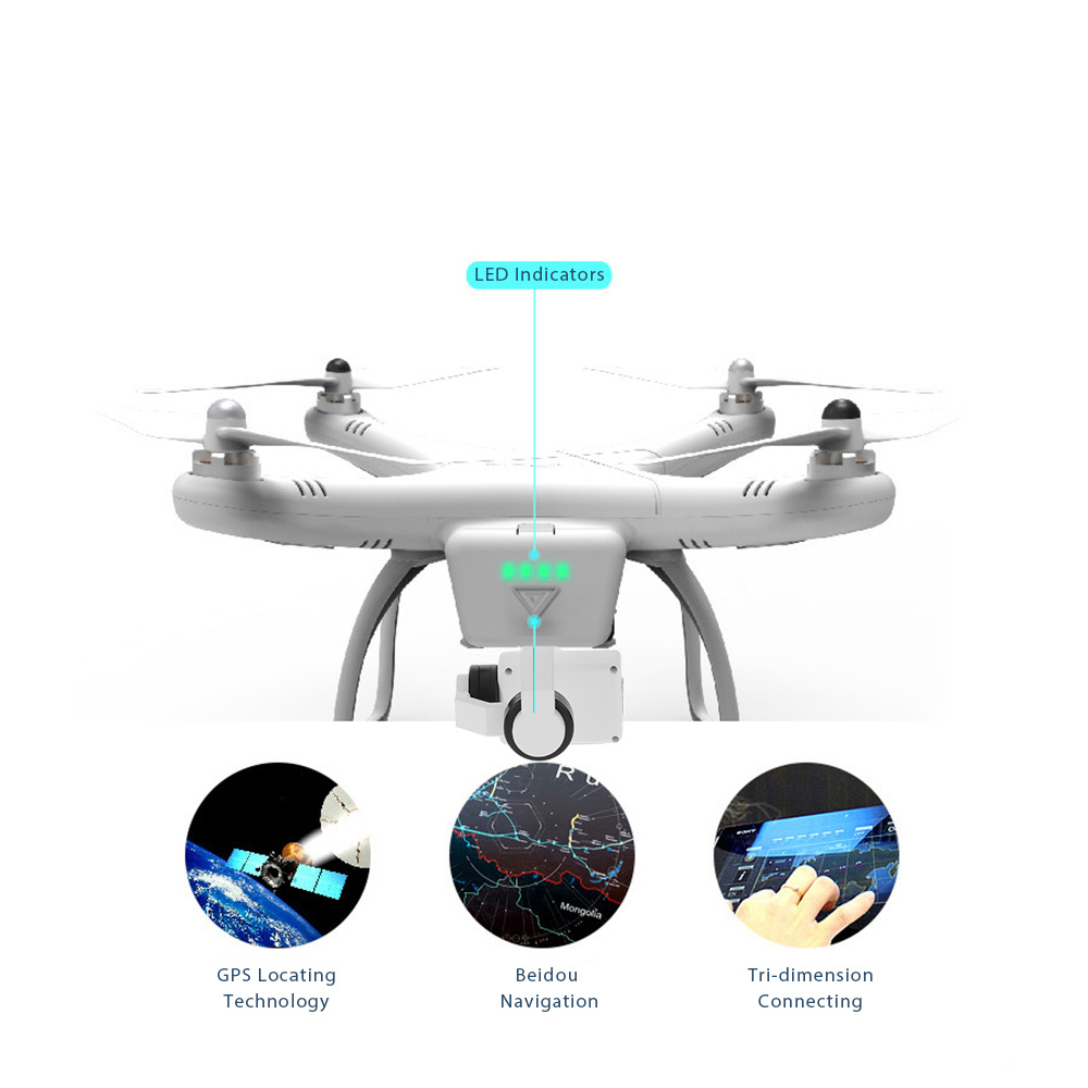 Professional Drone with Camera FPV Altitude Hold One Key Return RC Quadcopter with 4K 1080P HD Camera Drone Quad Aerial Dron (3)
