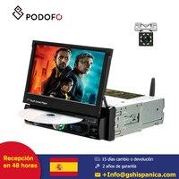 Podofo 1 din Android 8.0 coche radio 7'' Reproductor multimedia de coche single touch screen TFT LCD DVD display