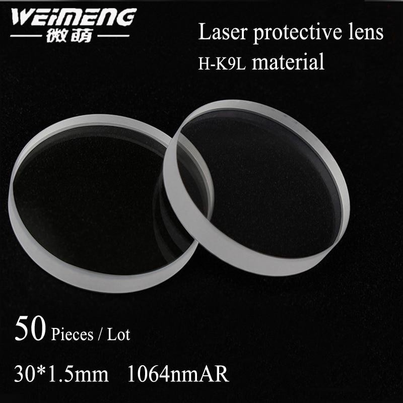 Protetora para Máquina de Corte a Laser Máquina de Solda Weimeng Peças Bolsa 30*1.5mm H-k9l Laser Lens & Window Film 50 –