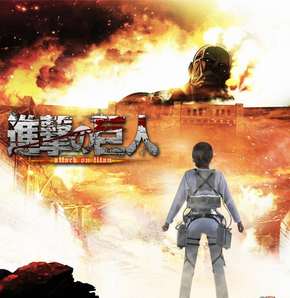 Free Shipping Attack on Titan Eren Jaeger Trainee Class Underwaist Anime Cosplay Costume