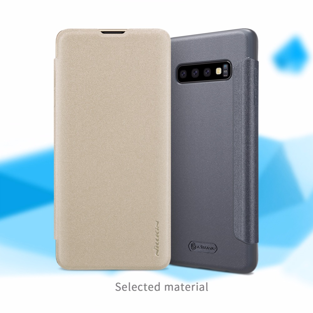 filp <font><b>cover</b></font> case For <font><b>Samsung</b></font> <font><b>S10</b></font> <font><b>S10</b></font>+ NILLKIN Sparkle super thin <font><b>flip</b></font> <font><b>cover</b></font> PU leather case for <font><b>Samsung</b></font> <font><b>S10</b></font> <font><b>S10</b></font> plus image