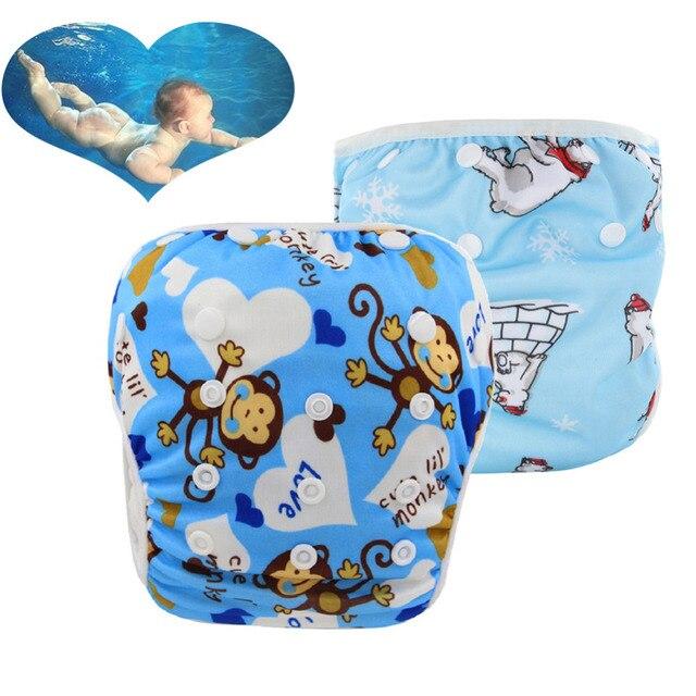 Bambino lavabile nuotare pannolini Ragazzi delle neonate costumi da ...