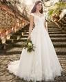 Najowpjg 2017 New Arrive Vintage Princess Ivory A-Line Wedding Dress Fashion Appliques Vestido Deep V-Neck Bride Dress Plus Size
