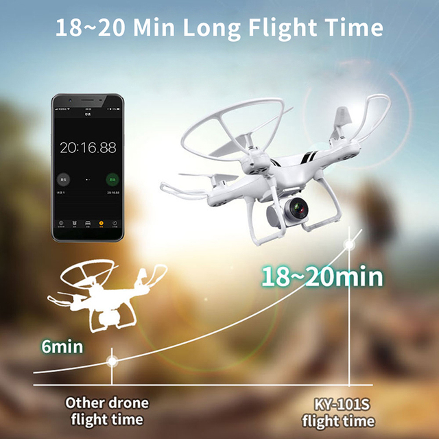 KY101S RC Drone With Camera HD Wifi FPV Altitude Hold One Key Return Landing Off Headless RC Quadcopter Drone Long Flight Time 3