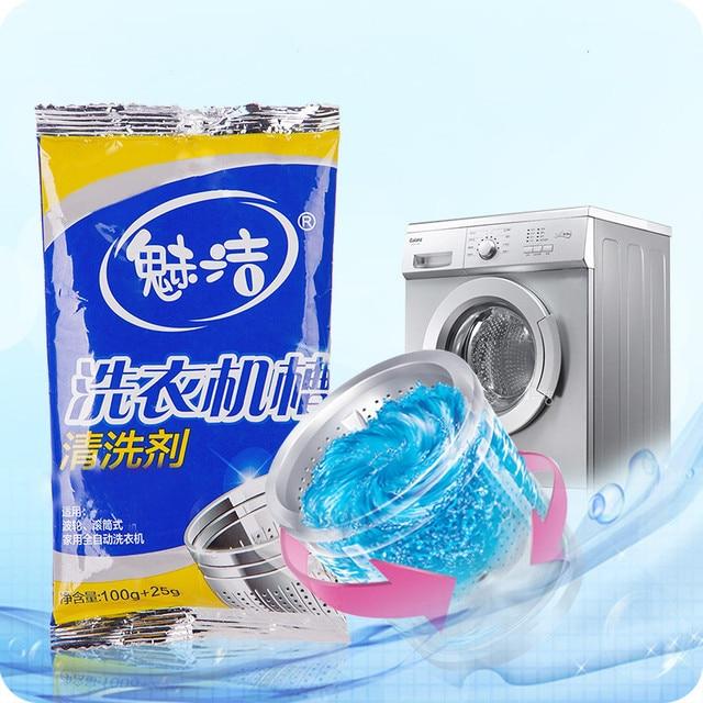2 bag! Powder washing machine cleaner Odor removal decontamination lavadora washing tank tube cleaner limpeza 1