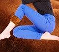 Теплый Сгущает Руна Эластичный Пояс Джинсовая Мода сексуальные женщины новый год Зима карандаш брюки капри плюс размер дамы брюки женские