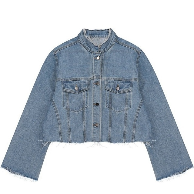 Aliexpress.com : Buy Women Cropped Denim Jacket 2017 Autumn Winter ...