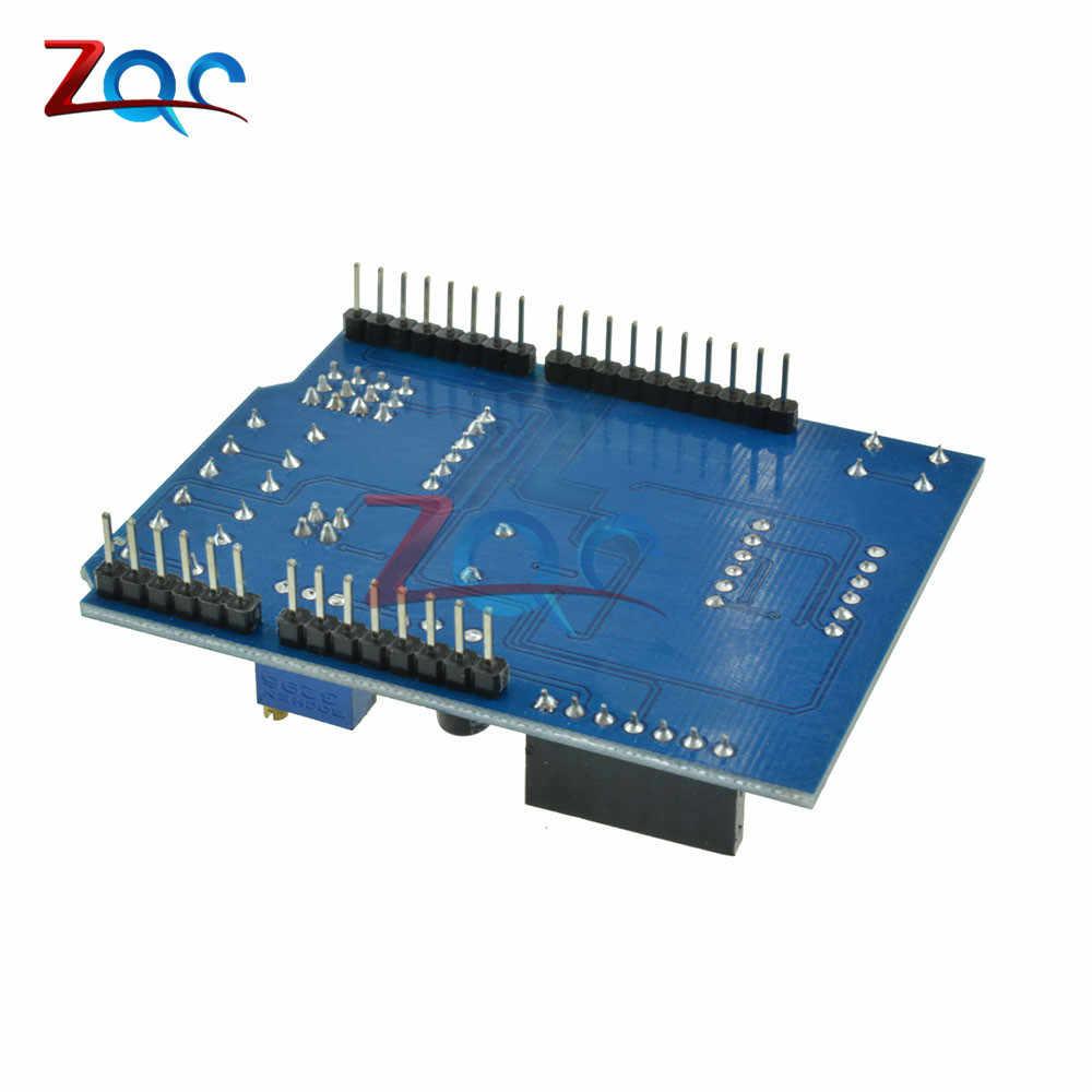 Multi Function Shield with Buzzer LM35 4 Digit Digital LED Expansion Board  Voice Module for Arduino UNO R3 Lenardo Mega2560