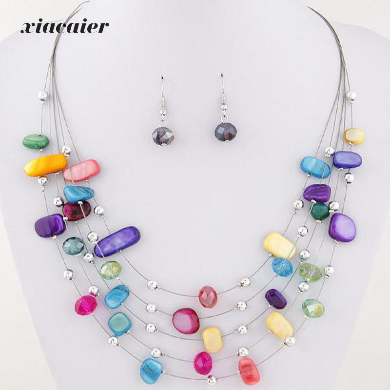xiacaier Fashion Beautiful Bohemia Fashion Mixed Beads Shell ...