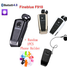 FineBlue F910 Controlador Bluetooth Inalámbrico Auriculares auriculares Retráctiles Vibración Recordar Cuello Clip Headset Fone de ouvido