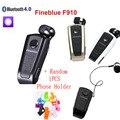 Fineblue f910 lembrar motorista sem fio bluetooth auriculares do fone de ouvido retrátil vibração colarinho clipe de fone de ouvido fone de ouvido