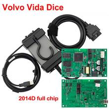 цена Full Chip For Volvo Vida Dice Newest 2014D Diagnostic Tool Multi-Language For Volvo Dice Pro Vida Dice Green board Full Function