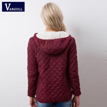 Autumn 2018 New Parkas basic jackets Female Women Winter plus velvet lamb hooded Coats Cotton Winter Jacket Womens Outwear coat