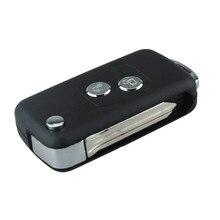 2 Botões Folding Remoto Chave Shell Capa Citroen C5 Elysee Picasso SX9 Uncut Com Lâmina Sem Cortes Chave Reequipamento Shell Tampa P5