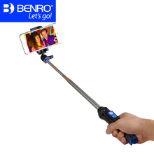 Benro MK10 Smartphone Selfie Sticks Aluminum Selfish Stick Telefon Tripod For iPhone Sumsang Fit Ios Monopod Tripod For Phone